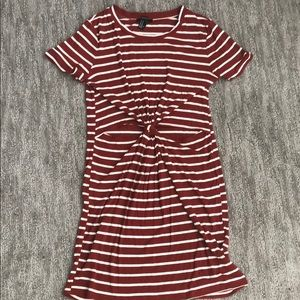 Forever 21 striped dress with cutouts!